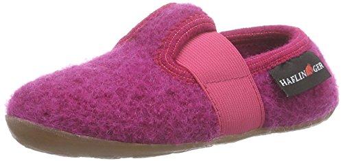 Haflinger Jonas - pantuflas de lana niña rosa - Pink (22 kadinal)