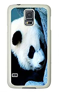 White Fashion Case for Samsung Galaxy S5,PC Case Cover for Samsung Galaxy S5 with Panda