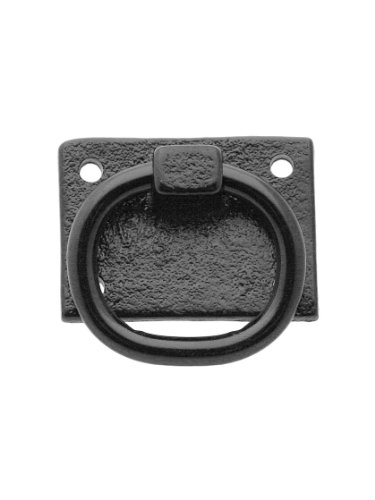 Cast Iron Shutter Ring Pull with Black Primer Finish