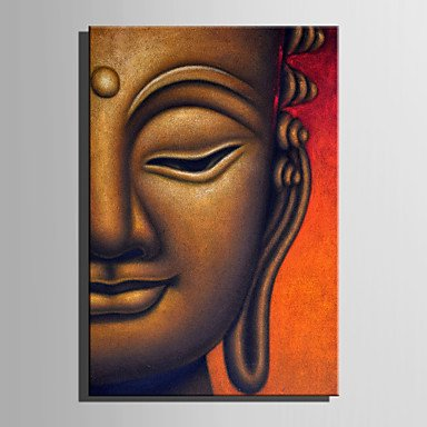 XGHC Stretched Canvas Art Half Face Buddha Decoration Painting One Pcs , without inner frame , 14