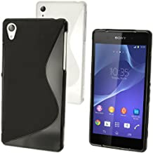 iGadgitz Black S-Line TPU Case for Sony Xperia Z2 D6503 + Screen Protector