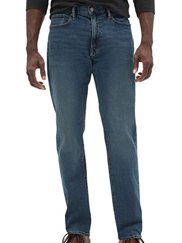 GAP Denim Mens 225799 GapFlex Athletic Fit Straight Leg Jeans Medium Indigo Wash (38W x 32L) (Gap Straight Fit Jeans)