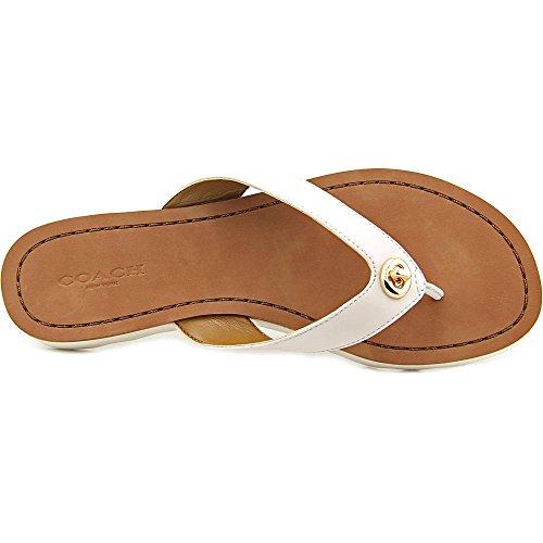Flop Shelly sandalias Open Toe Flip de Tiza Mujer Coach piel 8vBdPqq