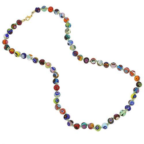 GlassOfVenice Murano Glass Mosaic Long Necklace - Multicolor (Murano Necklace Glass)