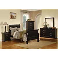 ACME Louis Philippe Black Full Bed