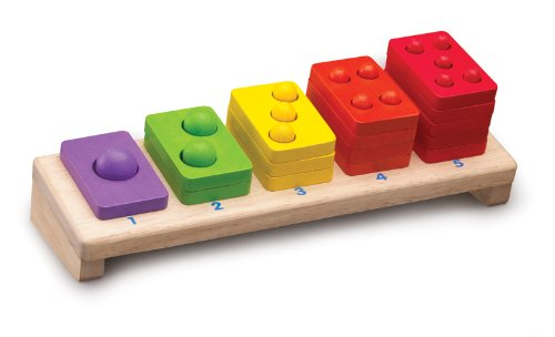 Wonderworld 1-5 Stacker Toddler Toy - Promotes Fun Learning, Numbers, Colors - 15 Piece Set