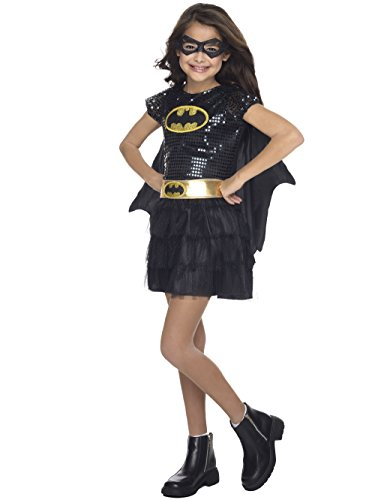 Rubie's Costume DC Superheroes Batgirl Sequin Dress Child Costume, Medium ()