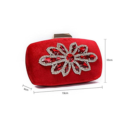 Personalità Strass New Party Flanella Incontri Borsa D'onore Ladies Borsa Clutch Nightclub Sera Sposa YLBA Black Damigella Da Fashion Retro Gold OS85qwcY