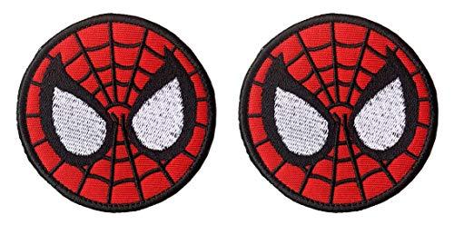 (Antrix 2 Pcs Tactical Marvel Comics Avengers Spiderman Deadpool Logo Applique Patch Hook and Loop Military Superhero Spiderman Badge Morale Patch - Dia.3.15