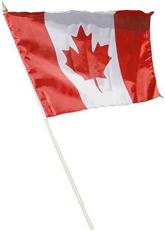 "12x18 12/""x18/"" Canada Country Stick Flag 30/"" wood staff"