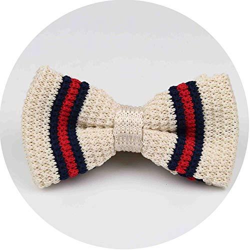 New Style Men Women Knit Bowtie Adjustable Butterfly Double Deck Neckwear Bowties,11 (Adjustable Thermocouple)