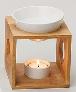 Poma Bamboo de madera y cerámica rectangular