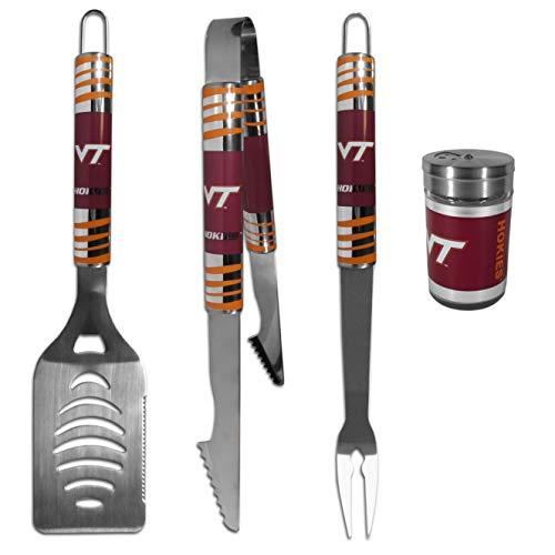 NCAA Virginia Tech Hokies 3 pc Tailgater BBQ Set & Season Shaker