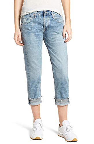 Citizens of Humanity Womens Button-Fly Boyfriend Jeans Blue 32 Citizens Of Humanity Button Fly Jeans