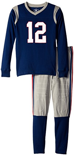 Willy Pants Wes And Boys (Wes and Willy Boys' Big Slim N G Long Sleeve Pajama, Night Navy, 14)