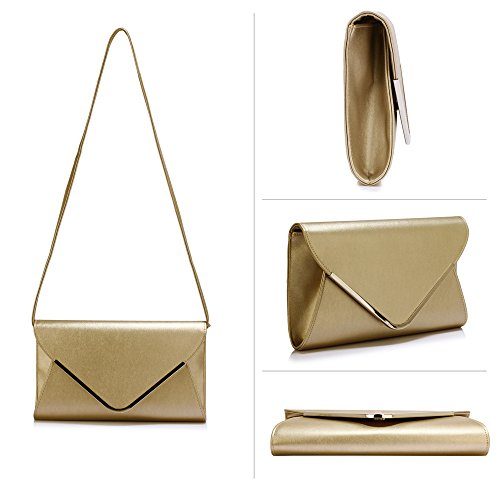 FREE Flap Large DELIVERY Stunning Gold Large UK Clutch Purse Gold Stunning fwgOWZ8q