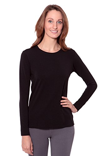 Women's Long Sleeve T- Shirt - Comfortable Casual Wear by Texere (Bellatee, Black, Large) Unique Gifts For Mom Sister Mother-In-Law (Casual Long Sleeved T-shirt)