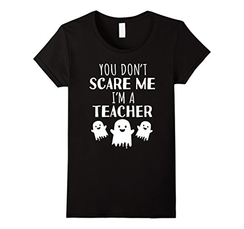 Womens Funny Teachers Halloween T Shirt Cute Halloween Gift Large Black