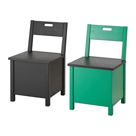 IKEA silla con almacenamiento, varios colores 1628.112629.302: Amazon.es: Jardín