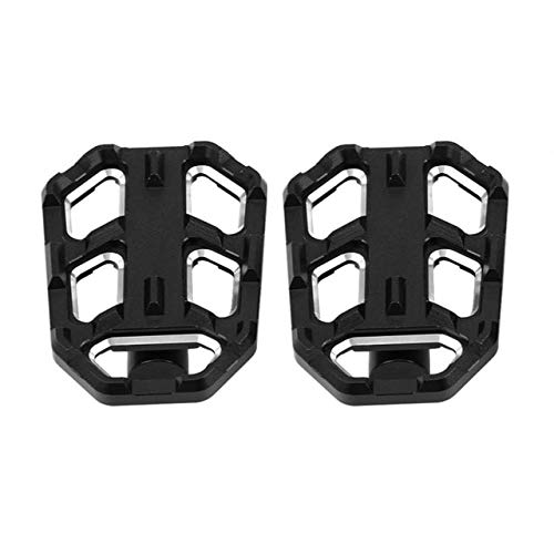 (Frames & Fittings Motorcycle Billet Wide Foot Pegs Pedals Rest Footpegs for BMW G310R G310GS R1200GS LC S1000XR 2015 2016 2017 2018 Aluminum Alloy - (Color: Black))