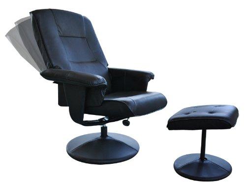 Goplus New Pu Leather Recliner Swivel Lounge Chair Office Livingroom W/ ottoman Black  sc 1 st  Amazon.com & Amazon.com: Goplus New Pu Leather Recliner Swivel Lounge Chair ...