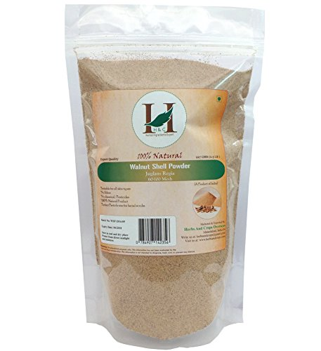 H&C 100% Natural Walnut Shell Powder for Scrub Formulation 227gms (1/2 LB) by H&C
