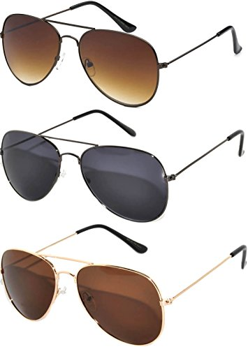 Classic Aviator Style Sunglasses Brown Color Lens Bronze Color Frame UVB Protection 3 - Sunglasses Aviator Women