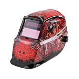 Auto Darkening Welding Helmet, Red/Black, 600S, 9 to 13 Lens Shade
