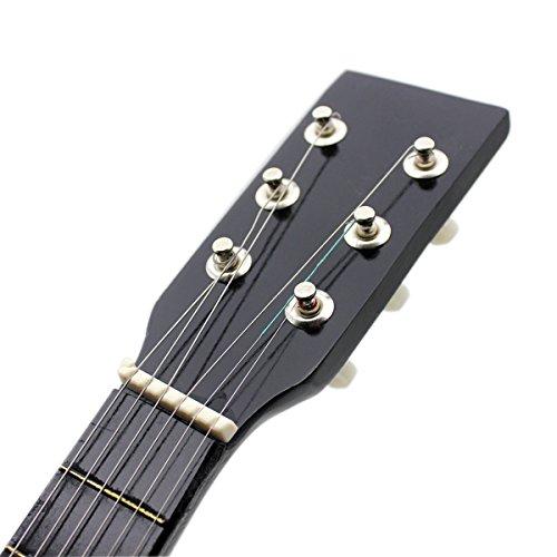 "Blueseason Kids Guitar New Mini 23"" Beginners Student Children Classical Acoustic Guitar, Black - Image 4"
