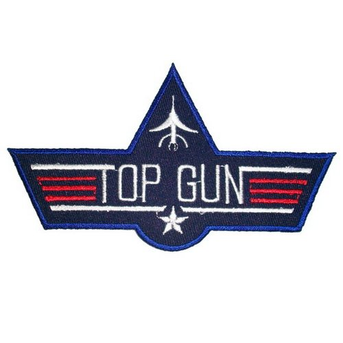 Top Gun  Iron On Embroidered Patch