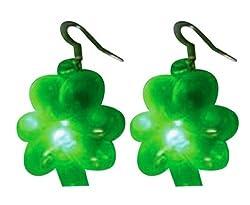 Creative Converting St. Patrick's Day Flashing Shamrock Ear Rings Accessory