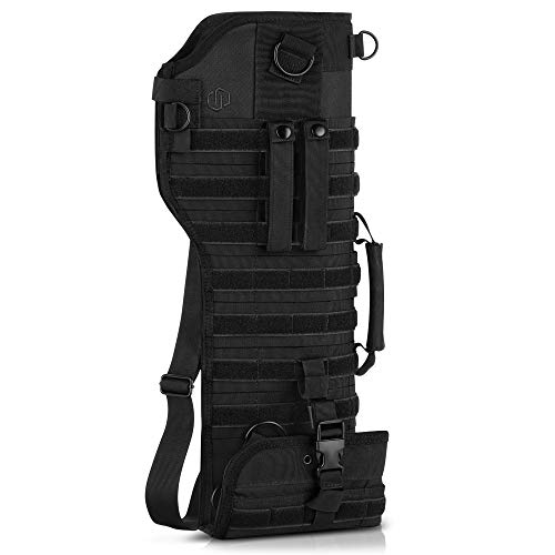 Savior Equipment Premium Tactical Shotgun Rifle Scabbard MOLLE Gun Case - Adjustable Carry Shoulder Strap, Firearm Protection Sling Bag