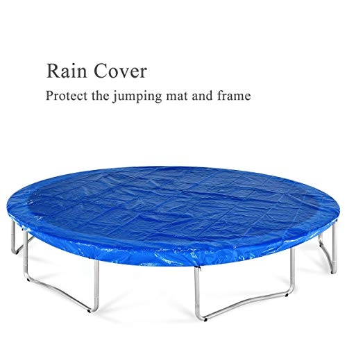 JUPA Kids Trampoline 15FT, TÜV Certificated Outdoor Trampoline with Enclosure Net Jumping Mat Safety Pad, Heavy Duty Round Trampoline for Backyard by JUPA (Image #6)