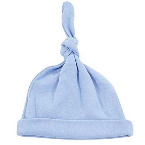 Silkberry Baby Organic Cotton Knot Hat Cornflower Blue 0-6m