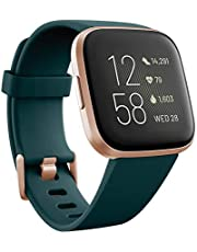 Fitbit FB507RGPE Versa 2 Premium Health and Fitness Smartwatch, Emerald/Copper Rose