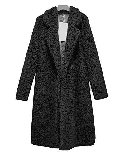 Women Casual Long Sleeve Cardigan Warm Jacket Spring Coat Outwear Black-M