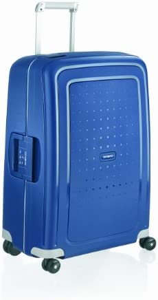 Samsonite S'Cure Hardside Luggage with Spinner Wheels, Dark Blue, Checked-Large 28-Inch