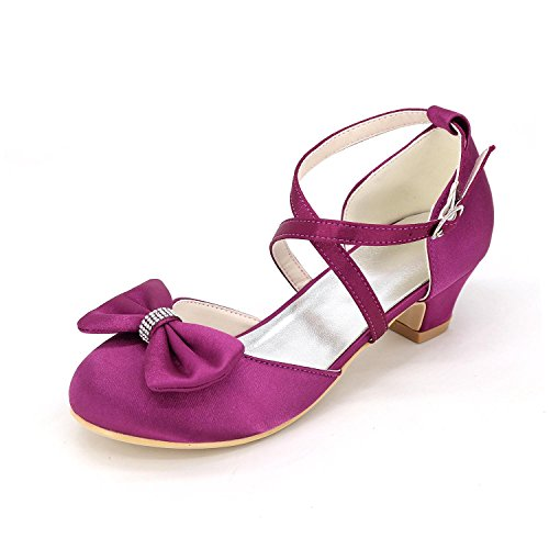 Fall amp; Shoes Girls' Wedding Walking Girl Shoes Evening Comfort Dress Glitter Girl Party Comfort Shoes Summer Purple AcST0qw