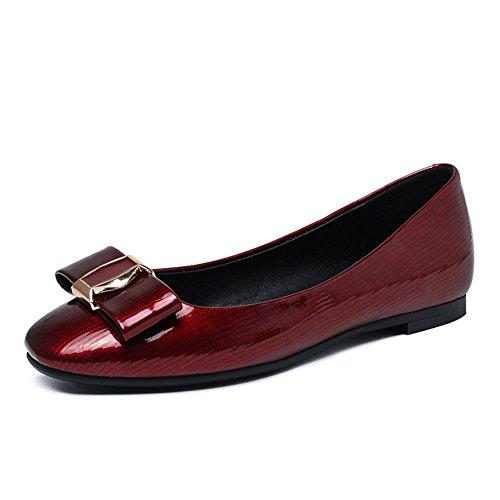Zapatos de las señoras de primavera/Plaza ocio zapatos planos de la luz/Zapatos de arco C