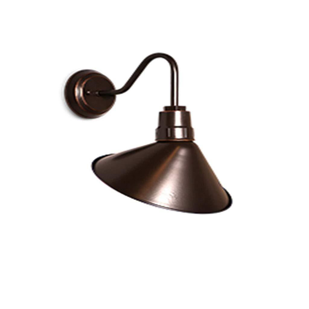 Industrial Wall Lamp Umbrella Wall Lamp Wall Lamp Retro Accessories Wall Lamp Kitchen Living Room Dining Room Bedroom, Metal Lamp Shade (Imitation of Rust)