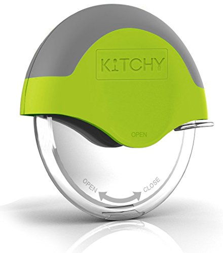 Kitchy Pizza Cutter Wheel with Protective Blade Guard, Super