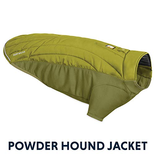 RUFFWEAR - Powder Hound Insulated, Water Resistant Cold Weather Jacket for Dogs, Forest Green, Medium