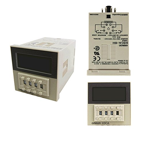 Amazon.com : OMRON H3CA-8 AC100/110/120V Solid-state Timer (ON-delay on omron h3cr f8 300, omron h3cr timers, omron 24vdc relay, omron digital timer, omron time delay relay, omron repeat cycle timer,