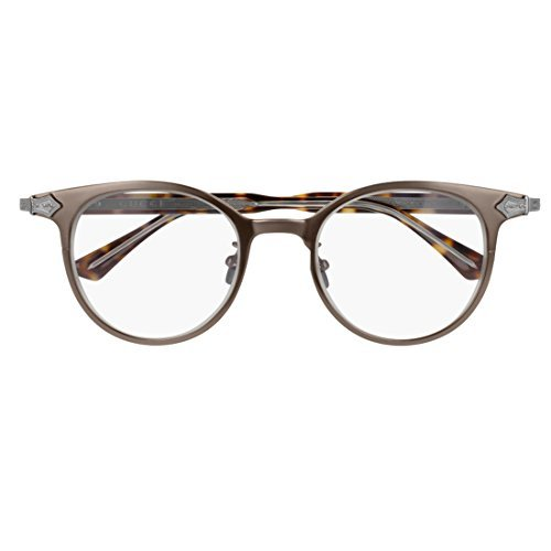 Gucci GG 0068O 002 Brown Ruthenium Titanium Round Eyeglasses - Eyeglasses Titanium Brands