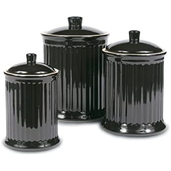 black kitchen canister sets oggi ez grip handle ceramic 4 canister 16427