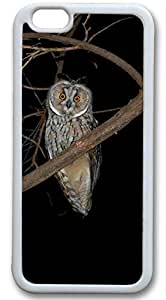 Owl Special Feature Customized Rubber White iphone 6 plus Case By Custom Service Your Perfect Choice