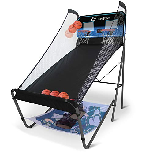 41ojf7FrfuL - EastPoint Sports 3-in-1 Shoot, Pitch, Pass Sports Gaming Center Station for Kids