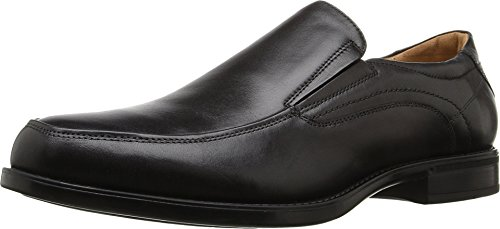 Fusion Moc Toe (Florsheim Men's Midtown Moc Toe Slip-On Black Smooth Loafer 9.5 D)