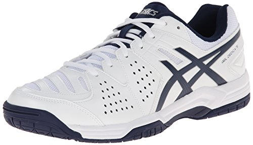ASICS Men's Gel-Dedicate 4 Tennis ShoeWhite/Navy/Silver8.5 M US