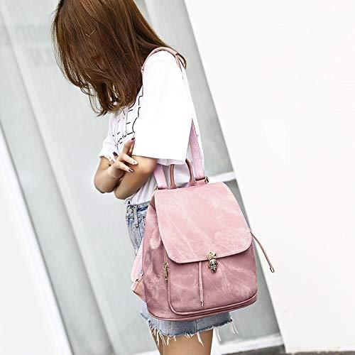 Juego de 2 mochilas de piel para mujer rosa OneMoreT